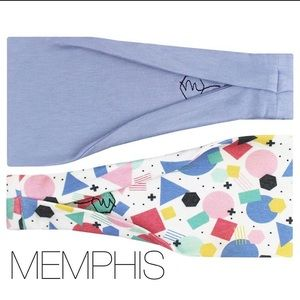 Headbands Workout Casual Colorful Blue Abstract